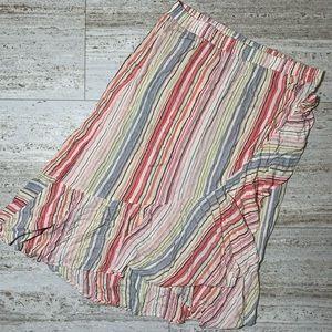 New! Multicolor beach skirt w/ruffles. XL